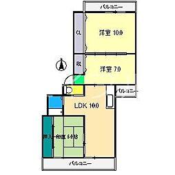 MORIマンション[8階]の間取り