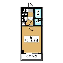 あさひレジデンス五番館[2階]の間取り