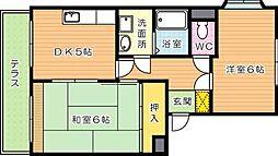 学園台シャルマンII[1階]の間取り