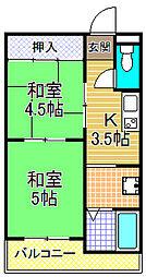 伊敷マンション[3階]の間取り