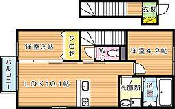 ぎおんスリーハウス[2階]の間取り