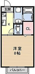 クレールコート[102号室号室]の間取り