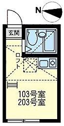 ユナイト小田モンセラッドの杜[1階]の間取り