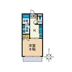ハウスM[1階]の間取り