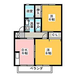 メゾンドプチマロン水堀[1階]の間取り