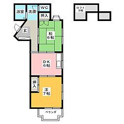 CASA PRESIDENT EIGHT[1階]の間取り