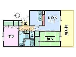フレマリール21 B棟[102号室]の間取り