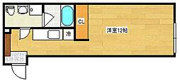 DiO PONTA 3階ワンルームの間取り