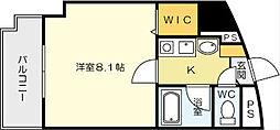 藤本ビルNo.21 中津口[405号室]の間取り