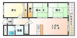 プランドールマツカワ[2階]の間取り