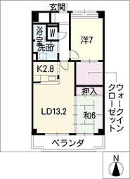 ステージアス[5階]の間取り