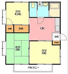 メゾンCX B[2階]の間取り