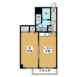 マーベルエトワール[3階]の間取り