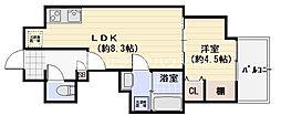 アヴェーレ京阪本通 7階1LDKの間取り