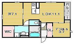 メディオ総持寺[2階]の間取り