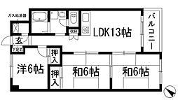 コボリクラスタ花屋敷[2階]の間取り