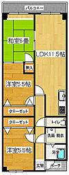 静岡県三島市東本町2丁目の賃貸マンションの間取り