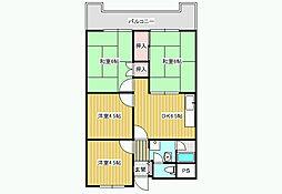 プラネット藤井寺[4階]の間取り