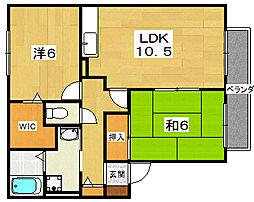 セジュールカヘイN棟[2階]の間取り