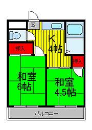 第2春栄荘[2階]の間取り