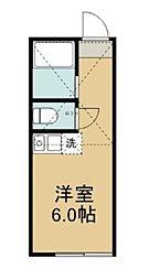 ユナイト田浦 マルコ・ルッキネリ[102号室]の間取り