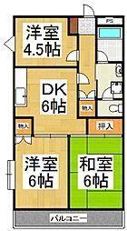 グレース山田[3階]の間取り