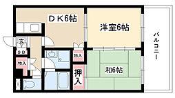 愛知県名古屋市昭和区南分町2丁目の賃貸マンションの間取り