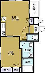 西区九条1丁目マンション計画[1階]の間取り