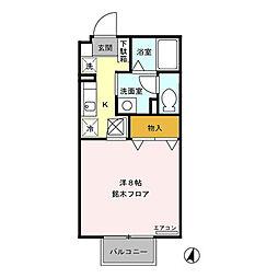 パインブリッジ稲里(稲里町中央)C棟[101号室号室]の間取り