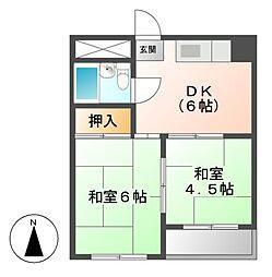 岩田ビル[4階]の間取り