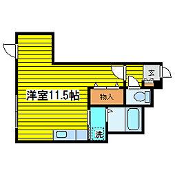 北海道札幌市東区北八条東6丁目の賃貸マンションの間取り