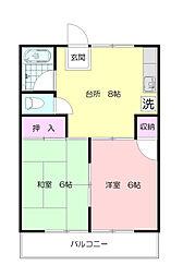 桂ハイツ[2階]の間取り