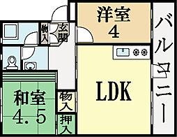 UR-久御山団地[4階]の間取り