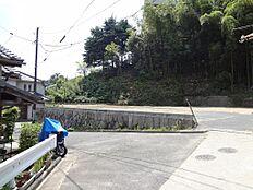前面道路から現地