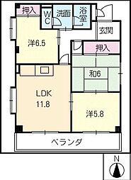 ハイツASADA[2階]の間取り