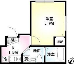 アークNegishi[3階]の間取り