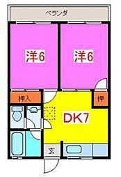 藤野第2マンション[101号室]の間取り