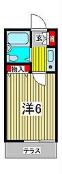 ビューバンブコーポ[2階]の間取り