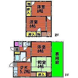 [一戸建] 岡山県岡山市北区北方3丁目 の賃貸【/】の間取り