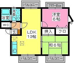 ティアラ長野[2階]の間取り