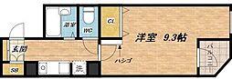 センターハウス[4階]の間取り