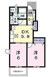 シャン・エトワール[1階]の間取り