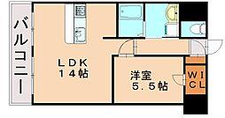 ランドマーク松島[4階]の間取り
