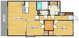 サニーコート梅満[3階]の間取り