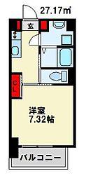 仮) 折尾4丁目マンション 5階1Kの間取り