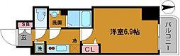 プレサンス堺筋本町駅前シェル 11階1Kの間取り