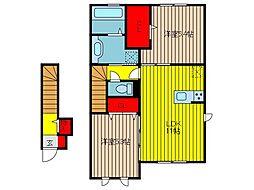 Cascata[2階]の間取り