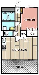 LION Hikari[102号室]の間取り