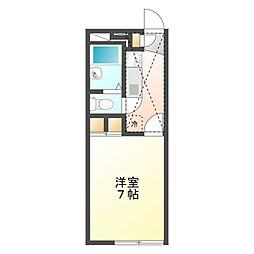 東京都国分寺市西町3丁目の賃貸アパートの間取り