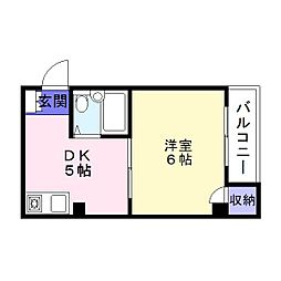 プラザアビコ[2階]の間取り